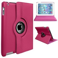 Apple iPad Mini 2 - Hoes 360° Draaibare Case Lederlook Roze