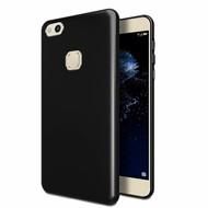 Zwart TPU Siliconen Hoesje voor Huawei P10 Lite