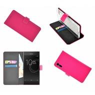 Sony Xperia XZs Roze effen Wallet Bookcase Hoesje