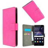Roze Wallet Bookcase P Hoesje voor Huawei P8 Lite 2017