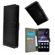 Zwart Wallet Bookcase P Hoesje voor Huawei P8 Lite 2017