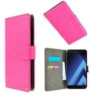 Roze Wallet Bookcase P Hoesje voor Samsung Galaxy A3 2017