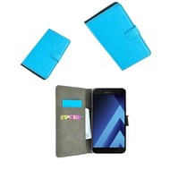 Turquoise Wallet Bookcase P Hoesje voor Samsung Galaxy A3 2017