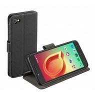 Luxe Y Wallet Bookcase Zwart Hoesje voor Alcatel A5 LED