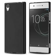 Zwart TPU Siliconen Case Hoesje voor Sony Xperia XA1