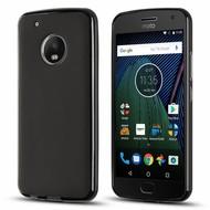 Zwart TPU Siliconen Case Hoesje voor Motorola Moto G5 Plus