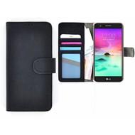 Wallet Bookcase Zwart Portemonnee Hoesje voor LG K10 2017