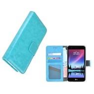 Wallet Bookcase Turquoise Portemonnee Hoesje voor LG K4 2017