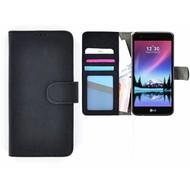 Wallet Bookcase Zwart Portemonnee Hoesje voor LG K4 2017