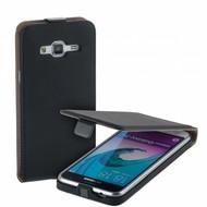 Samsung Galaxy J3 Pro Zwart Leder Flipcase Cover Hoesje