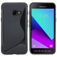 Zwart S-Style TPU Siliconen Case Hoesje voor Samsung Galaxy Xcover 4