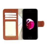 Pearlycase® Echt Lederen Wallet Bookcase Apple iPhone 7 Plus met de handgemaakte Bruin Leren Telefoonhoesje