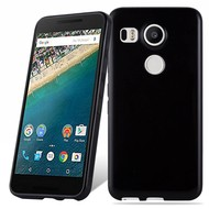 Lg Nexus 5X Smartphone Hoesje Tpu Siliconen Case Zwart