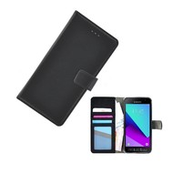 Wallet Bookcase Zwart Portemonnee Hoesje voor Samsung Galaxy Xcover 4