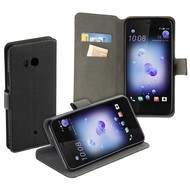 Luxe Y Wallet Bookcase Zwart Hoesje voor HTC U11