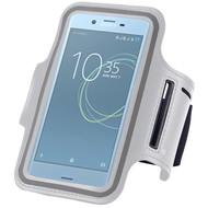 Wit Sportarmband Hardloopband voor de Sony Xperia XZ Premium
