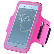 Roze Sportarmband Hardloopband voor de Sony Xperia XZ Premium