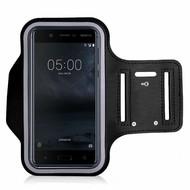 Zwart Sportarmband Hardloopband voor Nokia 5