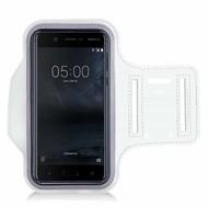 Wit Sportarmband Hardloopband voor Nokia 5