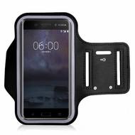 Zwart Sportarmband Hardloopband voor Nokia 6