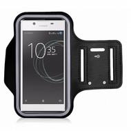 Zwart Sportarmband Hoesje Hardloopband Sony Xperia L1