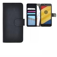 Fashion Zwart Wallet Bookcase Hoes voor Motorola Moto C Plus