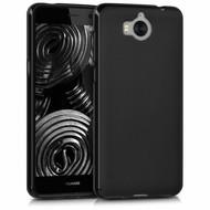 Zwart TPU Siliconen Case Hoesje voor Huawei Y6 2017