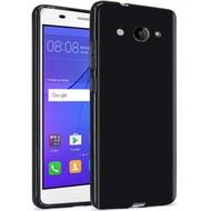 Zwart TPU Siliconen Case Telefoonhoesje voor Huawei Y3 2017