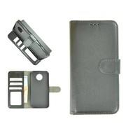 Zwart Wallet Bookcase Fashion Hoesje voor Motorola Moto G6