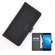 Wallet Bookcase Huawei Y7 Hoesje Effen Zwart