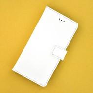 Wit Effen Wallet Bookcase Hoesje voor Huawei Y5 2017