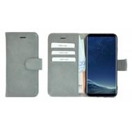 Pearlycase® Effen Lichtgrijs Wallet Bookcase Echt Leren Samsung Galaxy S8 Hoesje