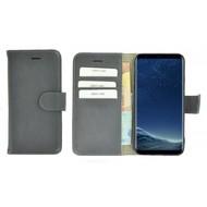 Pearlycase® Effen ijzergrijs Wallet Bookcase Echt Leren Samsung Galaxy S8 Hoesje