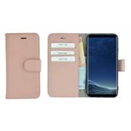 Pearlycase® Lichtroze Effen Wallet Bookcase Echt Leren Samsung Galaxy S8 Hoesje