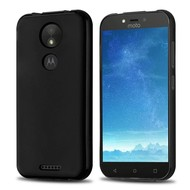Zwart TPU Siliconen Case Hoesje voor Motorola Moto C Plus