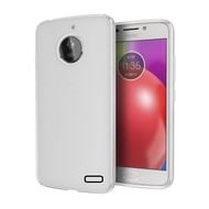 Transparant Mat Wit TPU Siliconen Case Hoesje voor Motorola Moto E4