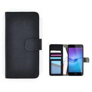 Zwart Huawei Y5 2017 Wallet Bookcase Fashion Hoesje