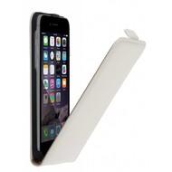 Wit Echt Leer Flipcase hoesje voor Apple iPhone 8