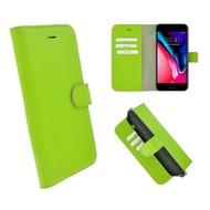 Pearlycase® Echt Leder Wallet Bookcase iPhone 7 Plus Groen Hoesje
