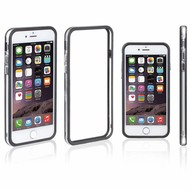 Zwart Transparant Bumper Case Hoesje voor iPhone 8 Plus