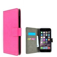 Roze Premium Wallet Bookcase Hoesje voor iPhone 8 Plus