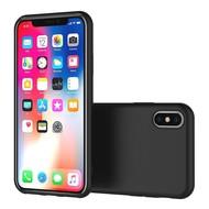 Zwart TPU Siliconen Case Hoesje voor iPhone X