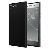 Zwart TPU Siliconen Hoesje voor Sony Xperia XZ1 Compact
