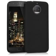 Zwart TPU Siliconen Hoesje voor Motorola Moto G5S Plus