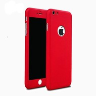 360 graden Full Body Cover Case Rood Hoesje voor iPhone 6/6S