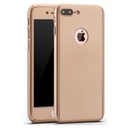 360 graden Full Body Cover Case Goud Hoesje voor iPhone 7 Plus
