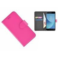 Roze Effen Wallet Bookcase Hoesje Samsung Galaxy J3 2017