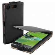 Zwart eco flipcase cover hoesje voor Sony Xperia XZ1 Compact