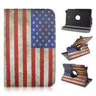 USA Vlag 360° Draaibare Case Tablethoes Samsung Galaxy Tab 3 Lite 7.0 (T110)