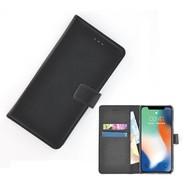 Zwart effen Wallet Bookcase iPhone X